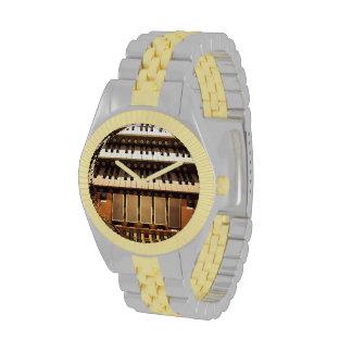 Consola del órgano reloj