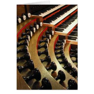 Consola del órgano, Wiesbaden Tarjeta De Felicitación