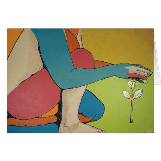 Consolidación - arte abstracto tarjeta de felicitación