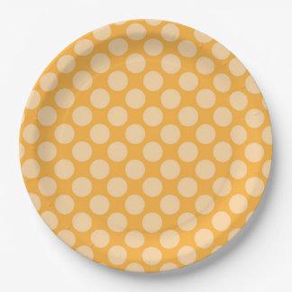 Consolidación de principios exquisita simple plato de papel de 9 pulgadas