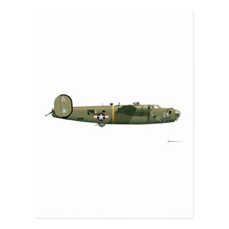 Consolidated B-24 Liberator Strawberry Postcard