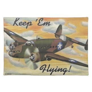 Consolidated B-24 Liberator World War II Vintage Cloth Place Mat
