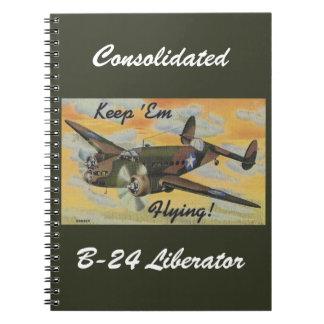 Consolidated B-24 Liberator World War II Vintage Notebook