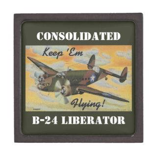 Consolidated B-24 Liberator World War II Vintage Premium Keepsake Boxes