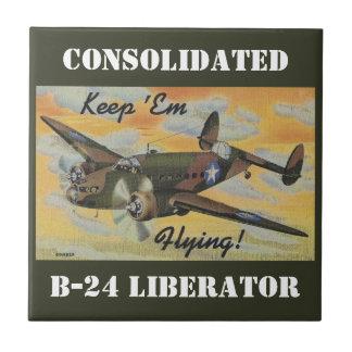Consolidated B-24 Liberator World War II Vintage Tile