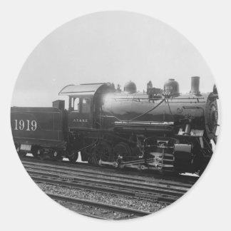 Consolidation 2-8-0 Vintage Steam Engine Train Classic Round Sticker