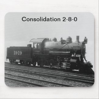 Consolidation 2-8-0 Vintage Steam Engine Train mousepad