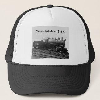 Consolidation 2-8-0 Vintage Steam Engine Train Trucker Hat