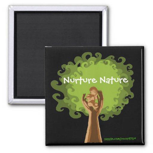 Consolide la naturaleza imán cuadrado