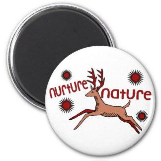 Consolide los ciervos de la naturaleza imán redondo 5 cm