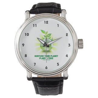 Consolide su planta del planeta un árbol (la relojes