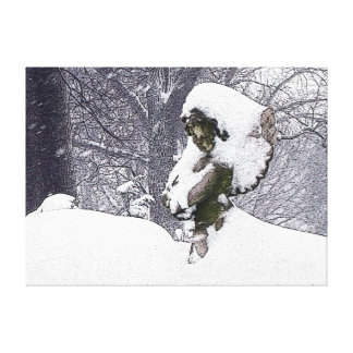 Consoling Angel • Cherub Canvas Print