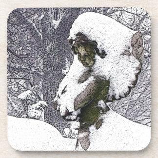 Consoling Angel • Cherub Drink Coaster