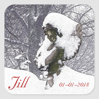 Consoling Angel • Cherub Square Sticker