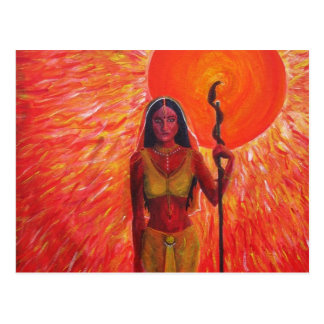 """Consort of the Sun"" Acrylic Painting - Postcard"