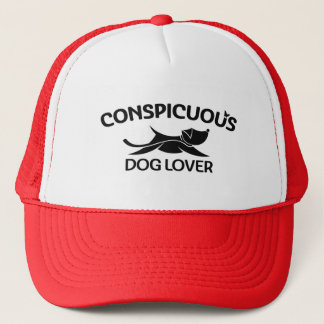 Conspicuous Dog Lover Logo in Black Trucker Hat
