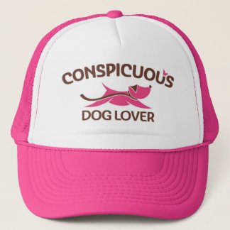 Conspicuous Dog Lover Logo in Pink Trucker Hat