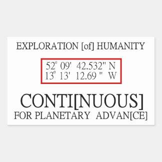 Conspiración científica del UFO del código binario Rectangular Pegatina