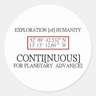 Conspiración científica del UFO del código binario Etiquetas Redondas