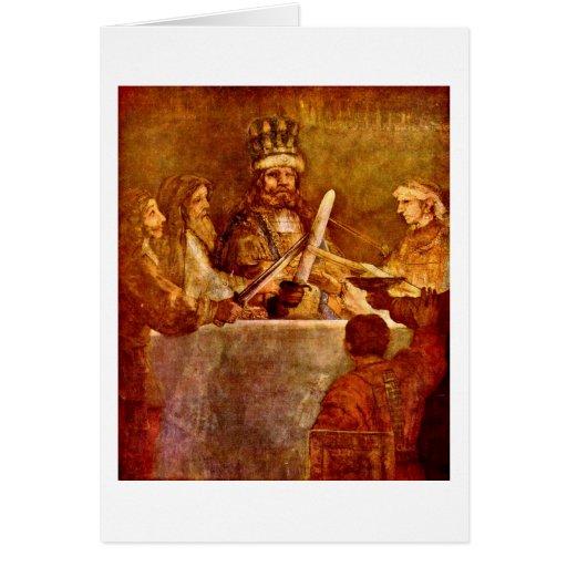 Conspiración de Batavians de Rembrandt Van Rijn Felicitaciones