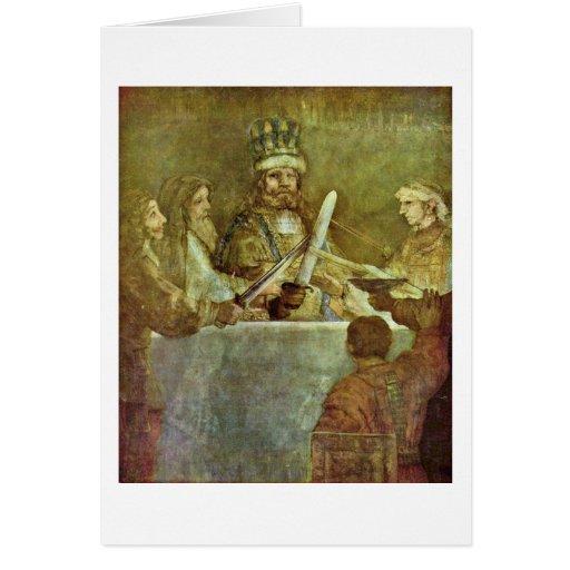 Conspiración de bátavo de Rembrandt Van Rijn Tarjeta De Felicitación