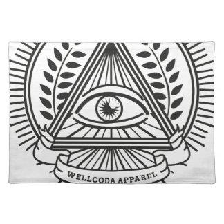 Conspiración de Illuminati de la ropa de Wellcoda Manteles Individuales