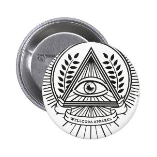 Conspiración de Illuminati de la ropa de Wellcoda Pin Redondo De 2 Pulgadas