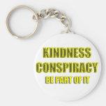 conspiración de la amabilidad llavero personalizado