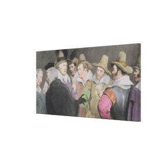 Conspiración para hacer saltar al parlamento, (bos lienzo envuelto para galerías