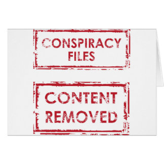 Conspiracy Files Stamp Content Removed Stamp Card