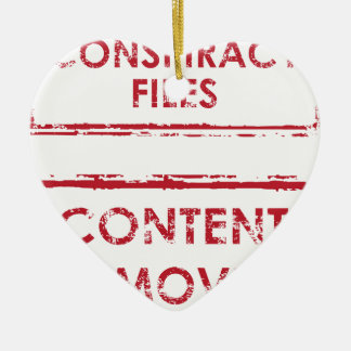 Conspiracy Files Stamp Content Removed Stamp Ceramic Ornament