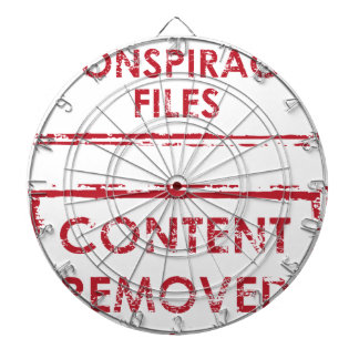Conspiracy Files Stamp Content Removed Stamp Dartboard With Darts