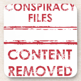 Conspiracy Files Stamp Content Removed Stamp Drink Coaster