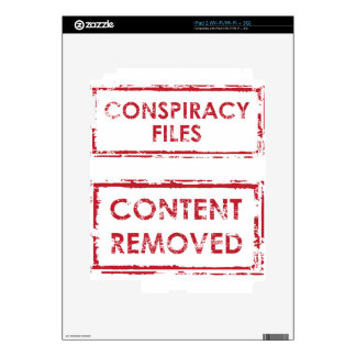 Conspiracy Files Stamp Content Removed Stamp iPad 2 Skins