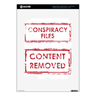 Conspiracy Files Stamp Content Removed Stamp iPad 3 Decal