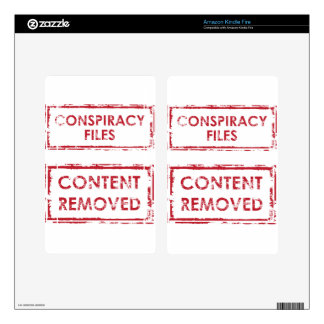 Conspiracy Files Stamp Content Removed Stamp Kindle Fire Decal