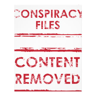 Conspiracy Files Stamp Content Removed Stamp Letterhead