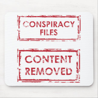 Conspiracy Files Stamp Content Removed Stamp Mouse Pad