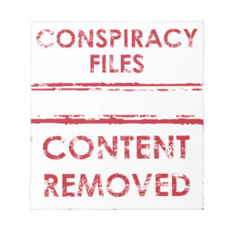Conspiracy Files Stamp Content Removed Stamp Notepad