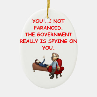 conspiracy Double-Sided oval ceramic christmas ornament