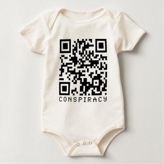 Conspiracy QR Code Baby Bodysuit