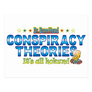Conspiracy Theories Dr. B Head Postcard