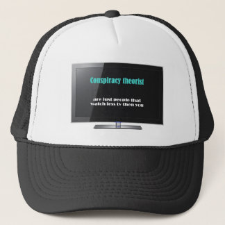 Conspiracy theorist against the media trucker hat