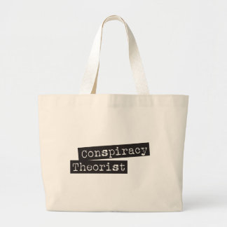 Conspiracy THEORIST Large Tote Bag