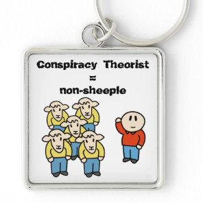 Conspiracy Theorist = non-sheeple Keychain
