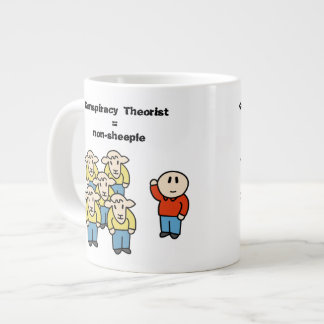 Conspiracy Theorist non-sheeple Extra Large Mugs