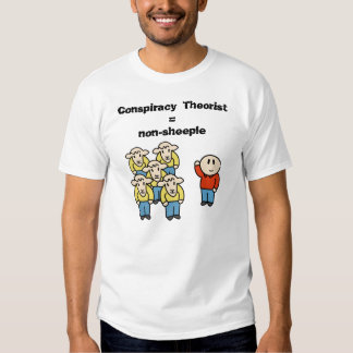 Conspiracy Theorist = non-sheeple T Shirt