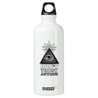 Conspiracy theory aluminum water bottle