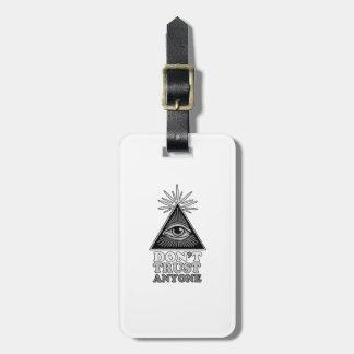 Conspiracy theory bag tag