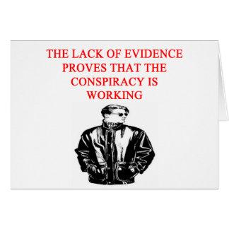 conspiracy theory joke card